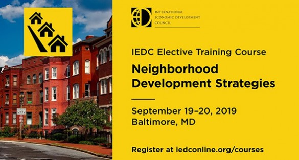 IEDC Training Course: Neighborhoods Development Strategies