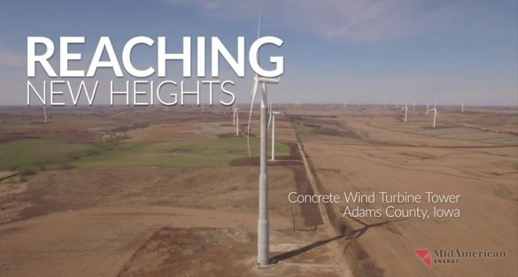 New video from MidAmerican Energy depicts construction of  tallest wind turbine