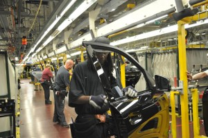 Daimler AG's Mercedes-Benz U.S. International, Inc. (MBUSI) assembly line in Tuscaloosa County, Ala. The company produces the GL, M, R, and now the C Class SUV. Image: Mercedes-Benz