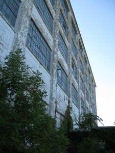 Former industrial sites such as this now closed fiberglass factory in New York state may have significant problems with contaminated soil and groundwater, which must be dealt with. Image: Golder Associates