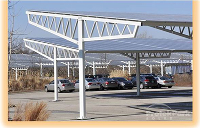 Over1 Megawatt of solar power-generating covered parking canopies, one of the largest in GA.