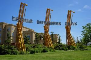Leduc Business Park's entrance. Photo: leducbusinesspark.ca