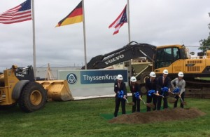 High-tech auto parts manufacturer ThyssenKrupp Bilstein of America Inc. breaks ground on multi-million expansion project in Hamilton, where the company will produce the latest shock absorber technology for its automaker customers. Photo: JobsOhio