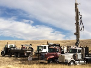 Drilling of groundwater wells at Niobrara Energy Development in Weld County. Five wells have been drilled, with all successfully producing industrial water. Photo: Niobrara Energy Development