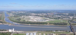 Located in Madison County, Illinois, America's Central Port is located on the Mississippi River. Photo: America's Central Port