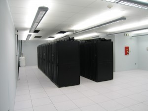 Racks in a data center build out. Photo: PTS Data Center Solutions Inc.