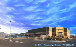 A 700,000-square-foot facility for La-Z-Boy by Amistad Industrial Developers in Ramos Arizpe, Coahuila, Mexico. Photo: Amistad