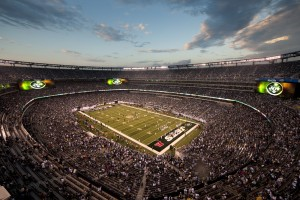 The MetLife Stadium for the New York Jets and Giants in East Rutherford, New Jersey, creates an innovative and immersive experience for fans, sponsors and players. Photo: Courtesy of HOK © LaCasse Photography
