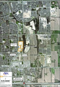 The 41.9-acre business park in Ajax, Ontario, Canada, was the first park certified under the PriorityProperty, Ontario's first municipal certified site program. Photo: Town of Ajax