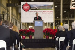 Montgomery Coca-Cola Bottling Company, a Division of Coca-Cola Bottling Company UNITED, recently announced a $35 million capital investment in Montgomery.