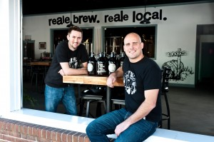 Co-owners Chris Brohawn and JT Merryweather of Realerevival Brewery, a microbrewery in Cambridge, Maryland.  Dochester County Economic Develolpment helped the co-owners secure a $200,000 rural development center loan to support renovations. Photos: Melissa Grimes-Guy Photography