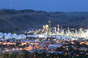 Conoco at night in Billings, Montana. Photo: Big Sky Economic Development