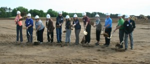 2.	June groundbreaking for GATR Truck Center, which is constructing a 46,000-square-foot truck dealership and maintenance facility in Elk River at the Nature's Edge Business Center. The facility will open in November. Photo: Joni Astrup, Star News