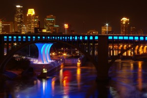 Minneapolis at night. Photo by Brandon Toner