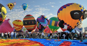 With nearly 1 million visitors each year, Albuquerque's International Balloon Fiesta may be the world's largest and best-known ballooning event. Photo: newmexico.org