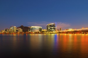 Downtown Tempe skyline. The city has many high profile projects under development. Photo: Arizona Commerce Authority