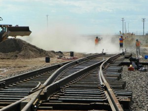 Rail expansion into Swan Ranch Industrial Rail Park. Photo: Cheyenne LEADS