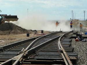 Rail expansion into Swan Ranch Industrial Rail Park. Photo: Cheyenne LEADS