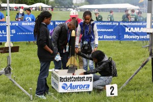 Students get ready to launch their rockets at the Team America Rocketry Challenge, held May 9 at Great Meadow in the Plains, Virginia, located outside of Washington, D.C. There were 700 teams participating in this year's event. The challenge is a dynamic STEM education program. Photo courtesy of AIA/Scott Henrichsen and Amanda Jaeger