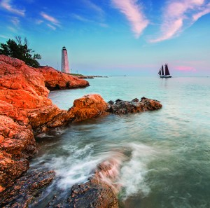 Connecticut features 253 miles of shoreline on Long Island Sound, and is home to 23 lighthouses along the sound. Many are not open to the public. Photo: Connecticut Department of Economic and Community Development
