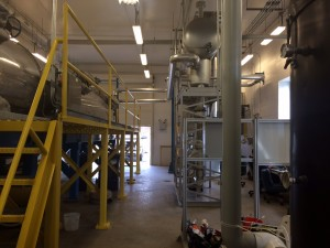 Biosolids facility with thermo fluid heater and air scrubber. Photo: Jennifer Langford