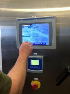 Digital control panel for the drum dryer. Photo: Jennifer Langford