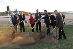 Last fall, Cirrus Aircraft broke ground on its Vision Center at McGhee Tyson Airport in Alcoa. This Cirrus Customer Experience Center will be the central location for all Cirrus Aircraft pilot, owner and customer activities, as well as focus on the new Vision SF50 single-engine personal jet. Photo: Blount Partnership.