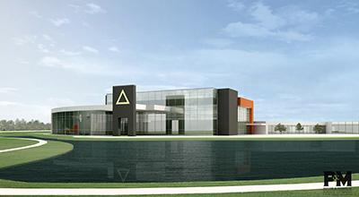 A rendering of the Golden Triangle region's workforce training center, Communiversity.