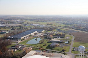 Huntington County Industrial Park. During the recession, the county's unemployment peaked at 14.3 percent; it is now 3.5 percent. The county had 2.3 million square feet of idled industrial property; now there is 200,000 square feet of idled space available. Photo: Huntington County United Economic Development.